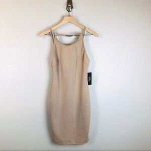 NWT Lulu's Favorite Distraction Nude Bodycon Dress